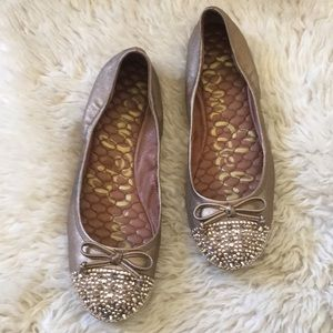 Sam Edelman gold flats with studs